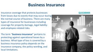Best Business insurance policy in india