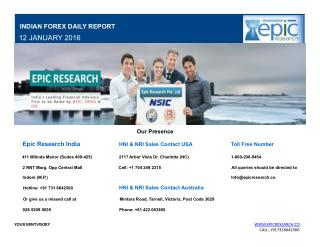 Epic Research Indian Forex Daily Market News 12 Jan 2016