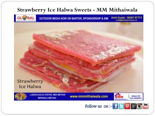 Strawberry Ice Halwa Sweets - MM Mithaiwala