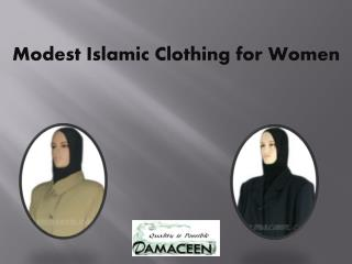 Modest Islamic Clothing for Women