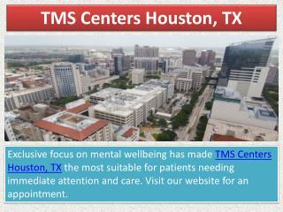TMS Centers Houston, Tx