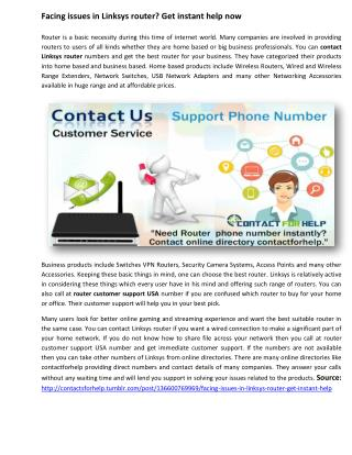 Get instant help for Linksys router