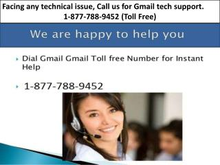 Gmail Customer Support Number 24/7 Instant Quick Support 1-877-788-9452