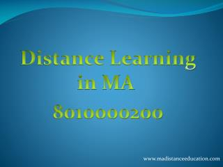 Distance Learning in MA  8010000200
