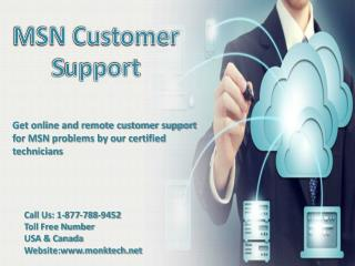 MSN customer support 1-877-788-9452 tollfree number for MSN support