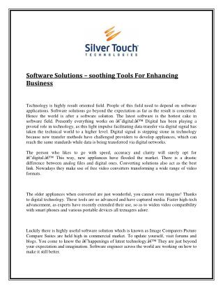 Software solutions – soothing tools for enhancing business