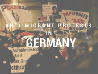 Anti-migrant protests in Germany
