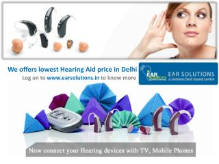 Get lowest Hearing Aid price in Delhi from EAR Solutions