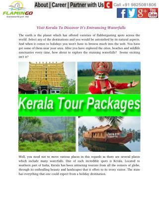 Visit Kerala To Discover It's Entrancing Waterfalls