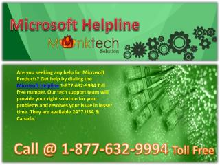 Microsoft Helpline #$# 1-877-632-9994 toll free Number