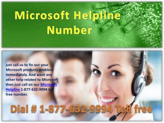 Microsoft Helpline &$$& 1-877-632-9994 toll free Number
