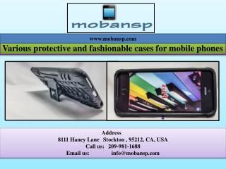 Various protective and fashionable cases for mobile phones