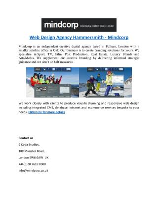 Web Design Agency Hammersmith - Mindcorp