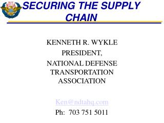 SECURING THE SUPPLY CHAIN