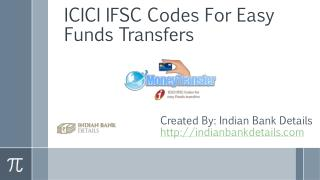 ICICI Bank IFSC Codes For Easy Funds Transfers