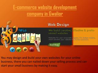 E-commerce website development company in Gwalior