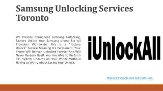 iUnlockAll- Samsung Unlocking Services Canada
