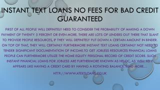 Text Loans Instant Cash @http://www.atextloans.co.uk | £100 Text Loans