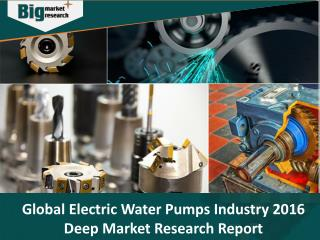 Global Electric Water Pumps Industry 2016 Deep Market Research Report - Big Market Research