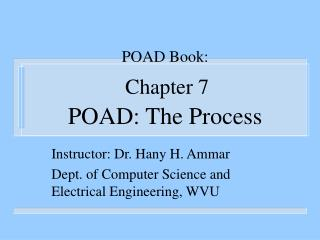 POAD Book:  Chapter 7  POAD: The Process