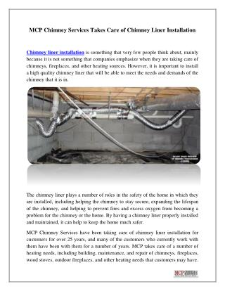 Chimney Liner Installation