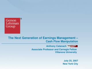 The Next Generation of Earnings Management   Cash Flow Manipulation