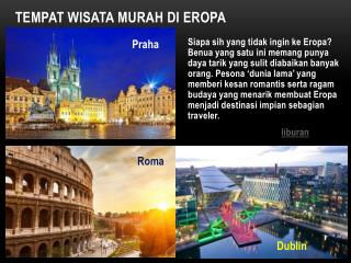 Tempat Wisata Murah di Eropa