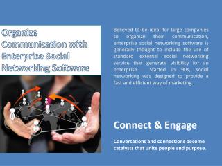 Enterprise Social Networking Software, Enterprise Collaboration Tool