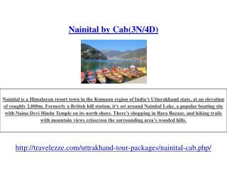 Nainital by Cab(3N/4D)