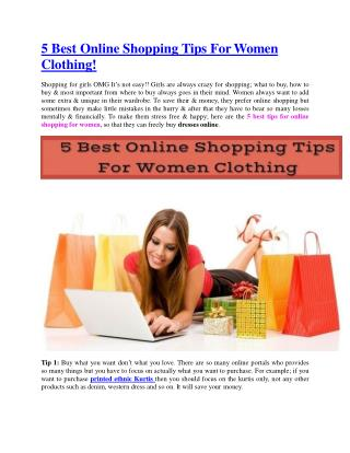 5 Best Online Shopping Tips For Women Clothing!
