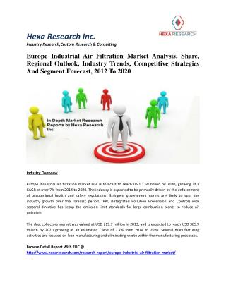 Europe Industrial Air Filtration Market Analysis, Share, Regional Outlook, Industry Trends, Competitive Strategies And S