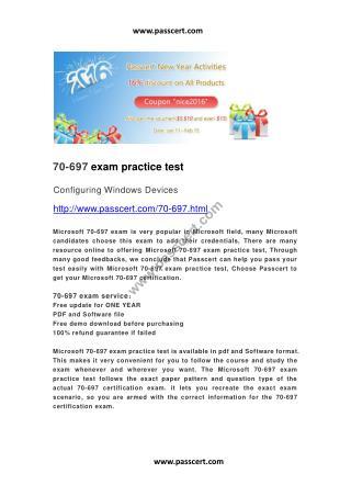 Microsoft 70-697 exam practice test