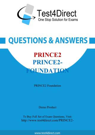 PRINCE2 PRINCE2-Foundation Test - Updated Demo