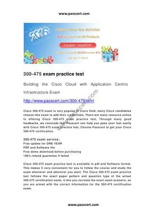 Cisco 300-475 exam practice test