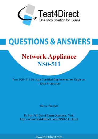 Network Appliance NS0-511 Test - Updated Demo