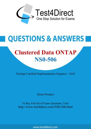 Network Appliance NS0-506 Exam - Updated Questions