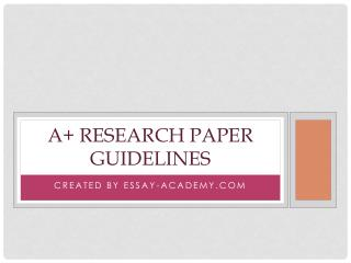 A  Research Paper Guidelines