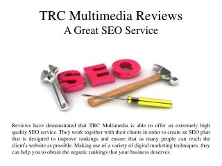 TRC Multimedia Reviews A Great SEO Service