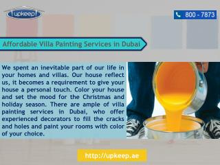 Best Villa Painting Services in Dubai