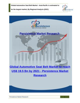 Global Automotive Seat Belt Market - Size, Share, Trend, Analysis to 2021