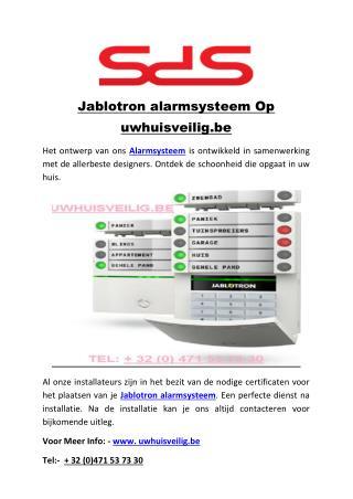 Jablotron alarmsysteem Op uwhuisveilig.be