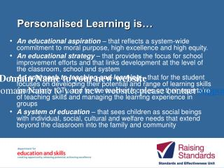 Personalised Learning is