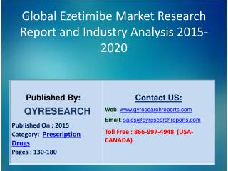 Global Ezetimibe Market 2015 Industry Growth, Trends, Development, Research and  Analysis