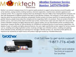 Brother Customer Service toll free number 1-877-776-4348