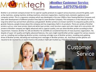 Customer Service Number for Brother Printers