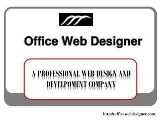 Web Design Comapny Officewebdesigner