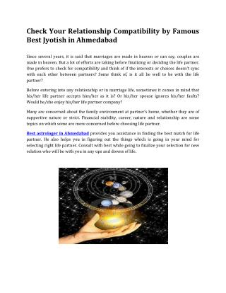 Check Your Relationship Compatibility by Famous Best Jyotish in Ahmedabad