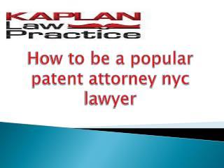 patent attorney nyc