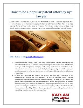 patent attorney nyc