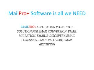 One Stop Solution for all Email Conversion Problems